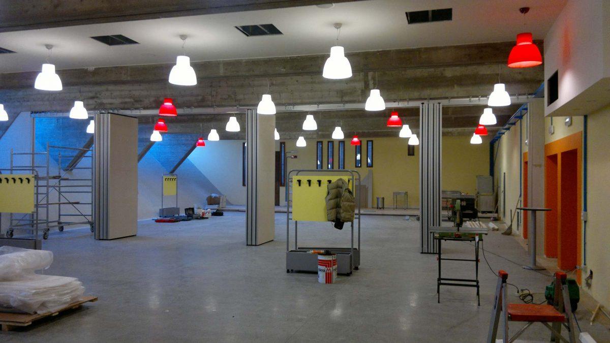 Impianto elettrico istituto scolastico, illuminazione