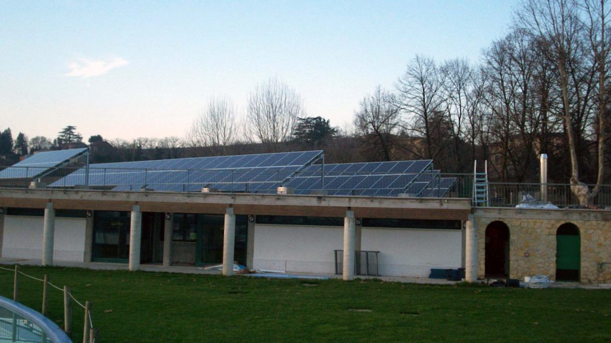 Impianto fotovoltaico parco termale copertura