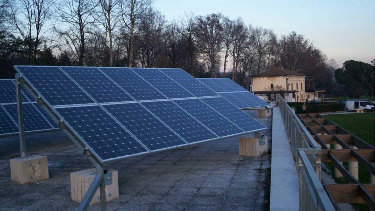 Impianto fotovoltaico parco termale