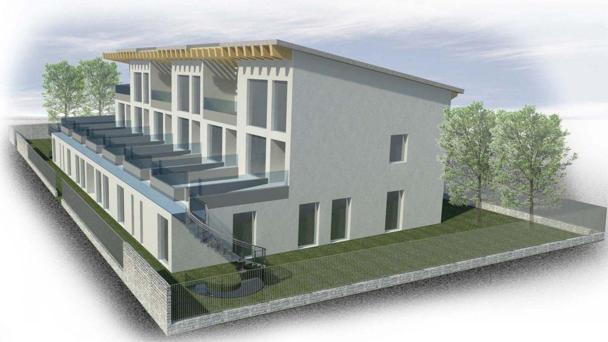 Proposta progetto residenze signorili, fronte