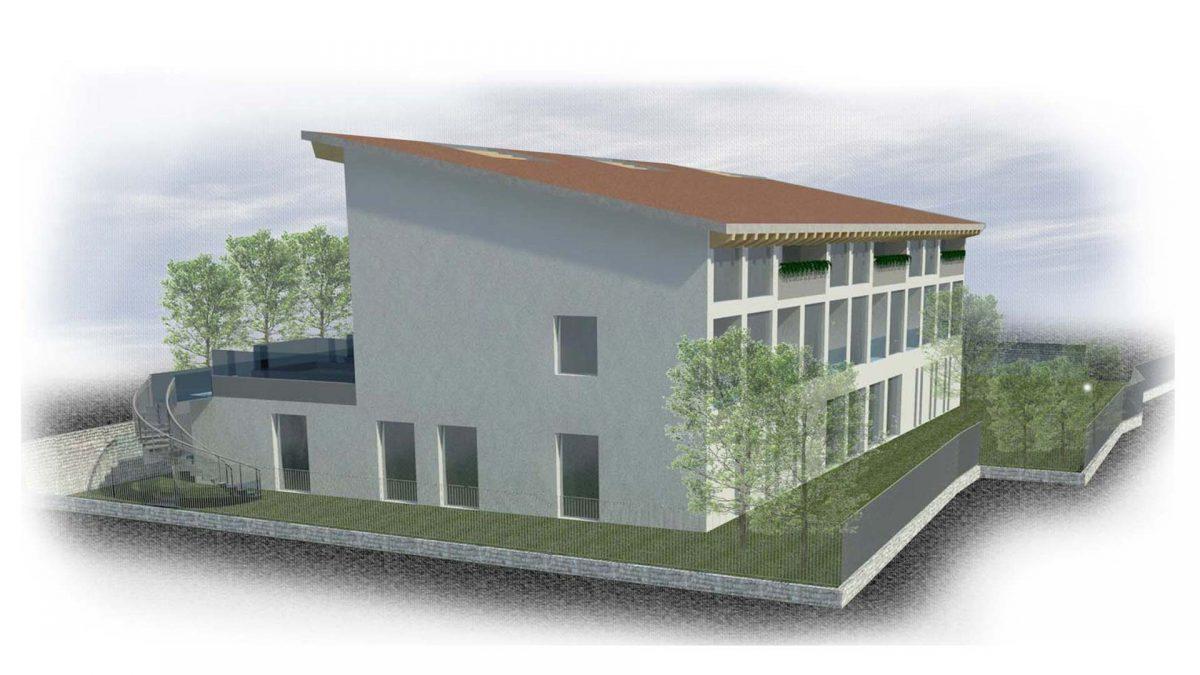 Proposta progetto residenze signorili, retro