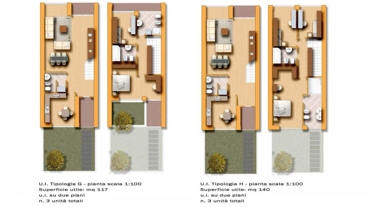 Pianta appartamenti residenze signorili